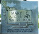 Profile photo:  Mary <I>Cole</I> Brewer