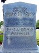 Profile photo:  Emma Myrtle <I>Fletcher</I> Brewer