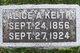 """Profile photo:  Alice A. """"Allie"""" <I>Curtis</I> Keith"""