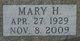 Profile photo:  Mary H. <I>Rensmith</I> Palmer