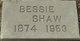 Profile photo:  Bessie <I>Winter</I> (Webb) Shaw