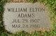 Profile photo:  William Elton Adams