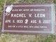 Profile photo:  Rachel V. Leon