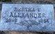 Bertha E <I>Haines</I> Alexander