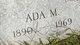 Profile photo:  Ada M. <I>Patterson</I> Elms