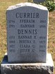 Hannah Hackett <I>Currier</I> Dennis