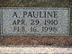 Profile photo:  A Pauline Purtee