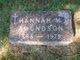 Hannah Mathilda <I>Blomgren</I> Amundson