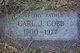 Profile photo:  Carl J. Cobb