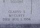 Profile photo:  Gladys Mae <I>Stech</I> McGurty