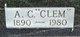 """Profile photo:  A. C. """"Clem"""" Parke"""