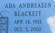 Profile photo:  Ada Marie <I>Sandersen</I> Blackett