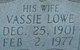 Vassie <I>Lowe</I> Archer