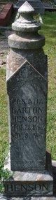 Profile photo: Mrs Ada <I>Barton</I> Henson