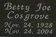 Profile photo:  Betty Joe <I>Cosgrove</I> Anderson