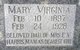 Mary Virginia <I>Harris</I> Dickenson