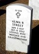 Profile photo:  Alma R. Street