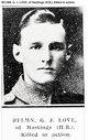 Profile photo: Rifleman George Joseph Love