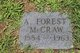 Profile photo:  A. Forest McCraw