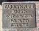 Carolyn <I>Pugh</I> Brown
