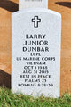Profile photo: LCpl Larry Junior Dunbar