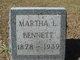 Martha <I>Laughner</I> Bennett
