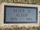 Alice Ophelia <I>Millard</I> Alsup