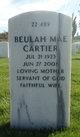 Profile photo:  Beulah Mae Cartier