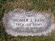 Profile photo:  Homer L Bain, Sr