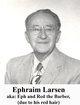 "Profile photo:  Ephraim ""Red"" Larsen"
