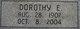 Dorothy Emma <I>Rice</I> Kusmaul