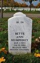Profile photo:  Bette Ann Humphrey
