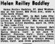 Profile photo:  Helen <I>Reilley</I> Baddley