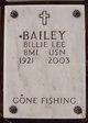 Billie Lee Bailey