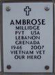 Pvt Millidge Ambrose