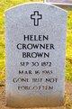 Mrs Helen <I>Hinton</I> Crowner Brown