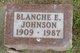 Blanche E. <I>Huseby</I> Johnson