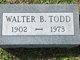 Profile photo:  Walter B. Todd