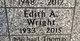 Edith Alice <I>Craig</I> Wright