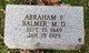 Profile photo: Dr Abraham F Balmer