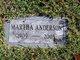 Profile photo:  Martha Anderson