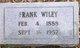 Profile photo:  Frank Wiley