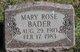 Mary Rose Bader