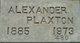 Profile photo:  Alexander Plaxton