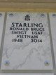Profile photo: SMSGT Ronald Bruce Starling