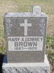 "Mary A ""Mamie"" <I>Downey</I> Brown"