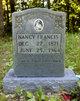 """Nancy """"Nancy Maw"""" Francis"""