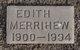 Profile photo:  Edith <I>Fox</I> Merrihew
