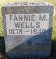 Profile photo:  Fannie M. Wells