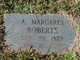 Profile photo:  A. Margaret Roberts